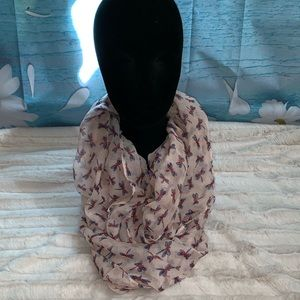 Pink 💗 Dragonfly Infinity Scarf
